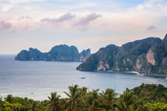 Tropic sea view. Tropical sea view,Thailand Phi-Phi shore line, island stock images