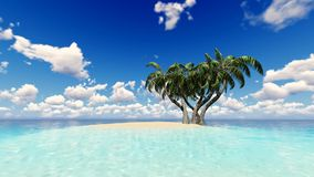 Tropical Sea Waves Holiday Background.  stock video