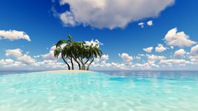 Tropical Sea Waves Holiday Background.  stock footage