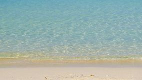 Tropical seacoast view. Peaceful turquoise tropical sea surf stock footage