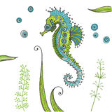 Tropical Seahorse background Stock Photos