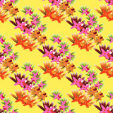 Tropical seamless background. Bright colors exotic Stock Photography