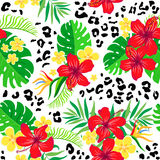 Tropical seamless background. Royalty Free Stock Photography
