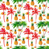 Tropical seamless background. Royalty Free Stock Images