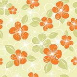 Tropical seamless floral background 3 Royalty Free Stock Photography