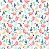 Tropical Seamless pattern Royalty Free Stock Photos