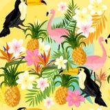 Tropical Seamless Pattern Stock Photos