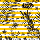 Tropical seamless pattern Royalty Free Stock Photography