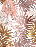Tropical seamless pattern with leaves. stock illustration