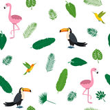 Tropical seamless pattern  Stock Images