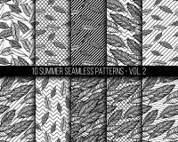 Tropical seamless patterns set Royalty Free Stock Image