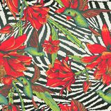 Tropical Seamless vintage floral pattern Royalty Free Stock Images