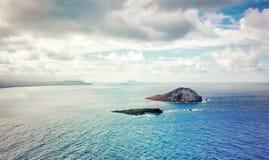 Tropical Seascape Hawaii. Sunny tropical seascape on east coast of Oahu, Hawaii stock image