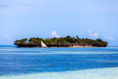 Tropical seascape, Zanzibar Island, Tanzania Stock Photography