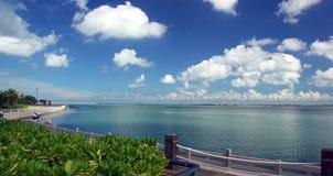 Tropical seashore. Taken in Hainan Island, China Royalty Free Stock Image