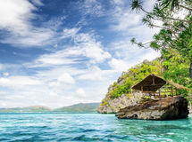 Tropical seashore.  Stock Photos