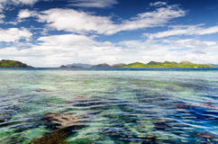 Tropical seashore. Philippines. Royalty Free Stock Image