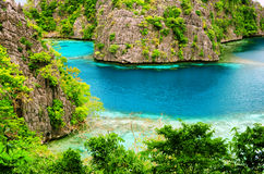 Tropical seashore. Philippines. Royalty Free Stock Photography
