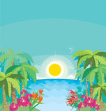 Tropical seaside Stock Photography