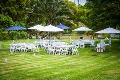 Tropical setting at a garden Stock Image
