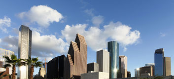 Tropical setting of the Houston Skyline Stock Images