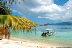 Tropical Seychelles beach  Royalty Free Stock Photos