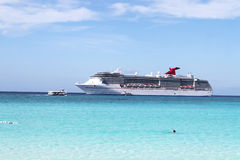 Tropical ship and beach Royalty Free Stock Photos