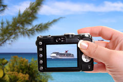 Tropical ship snapshot Royalty Free Stock Photography