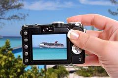 Tropical ship snapshot Royalty Free Stock Photos