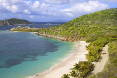 Tropical shoreline. Beautiful view of tropical shoreline in the British Virgin Islands Stock Image