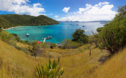 Tropical shoreline in British Virgin Island (BVI), Caribbean Royalty Free Stock Photo