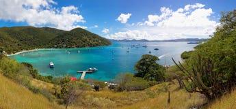 Tropical shoreline in British Virgin Island (BVI), Caribbean Stock Image