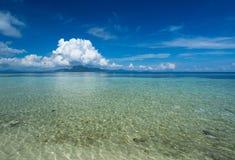 Tropical Sibuan Island In Sabah Borneo Stock Photo