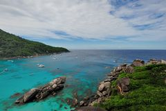 Tropical Similan Island bay Royalty Free Stock Photography