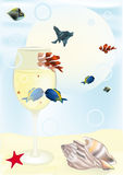 Tropical small fishes Royalty Free Stock Images