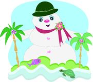 Tropical Snowman Stock Photography