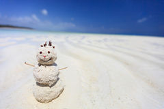 Tropical snowman Royalty Free Stock Photography
