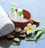 Tropical spa concepr met roombuizen stock afbeeldingen