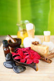 Tropical Spa. And wellness concept stock photo