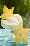 Tropical Starfruit Ice Cream Stock Images