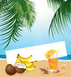 Tropical still life vector illustration