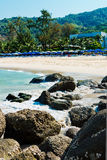 Tropical stones beach. Phuket island. Royalty Free Stock Image