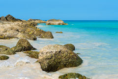 Tropical stones beach. Phuket island. Royalty Free Stock Photo