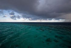 Before tropical storm. Calmness before tropical storm in Indian ocean Stock Photo