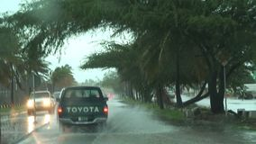Tropical storm Aruba island in the caribbean stock video