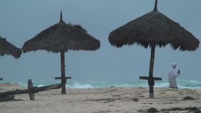 Tropical storm Aruba island in the caribbean stock video footage
