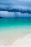 Tropical storm on a beach Stock Images