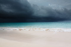Tropical storm is coming stock photo