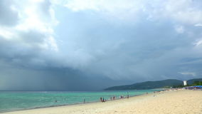 Tropical storm. Is coming at the Phuket. Timelapse stock footage