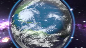 Tropical storm heading towards. The American continent stock video